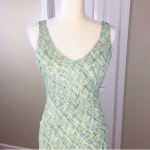 Green and Blue Jones Wear Sleeveless Dress Size 6